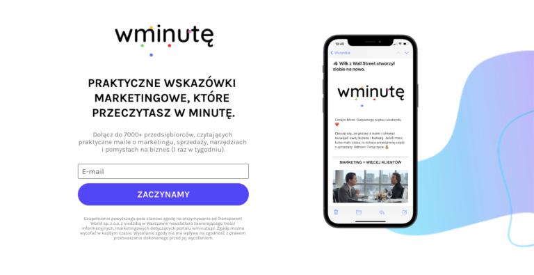 wMinutę.pl Strona Internetowa
